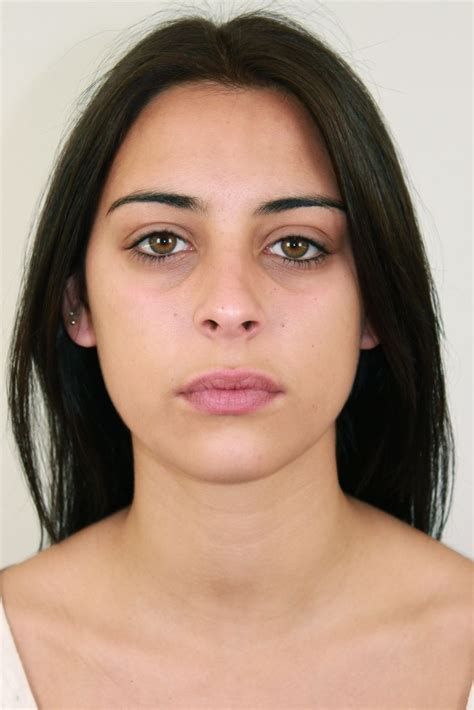 Eyeshadow Free model without makeup before our makeup free model