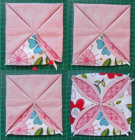 Cathedral Window Patchwork Pincushion - non ironing cathedral blocks quilting