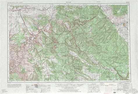 topo map of colorado moab topographic maps co ut usgs topo 38108a1 at