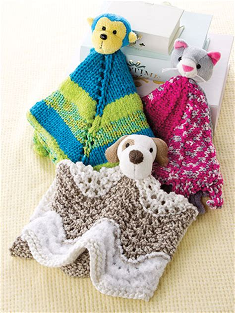 knitting buddy lovey security blanket knitting patterns in the loop