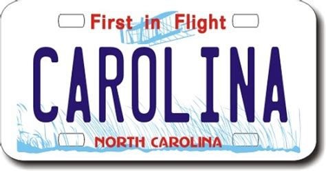 Nc Vanity Plates by Carolina Replica State License Plate For Bikes