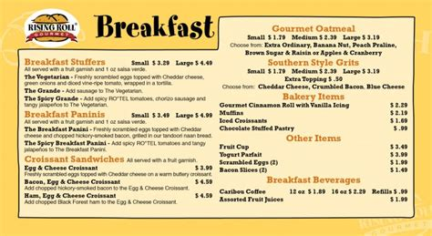 fresh breakfast menu page design ideas fandung