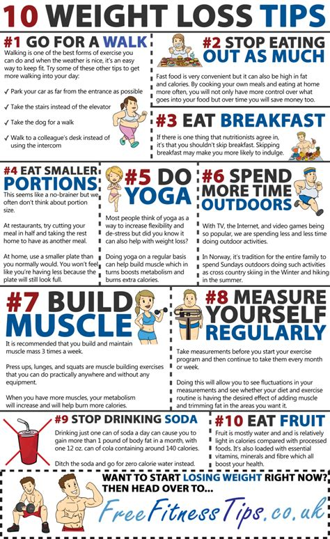Free Weight Loss Tip Leave The by 10 Simple Ways To Lose Weight Infographic