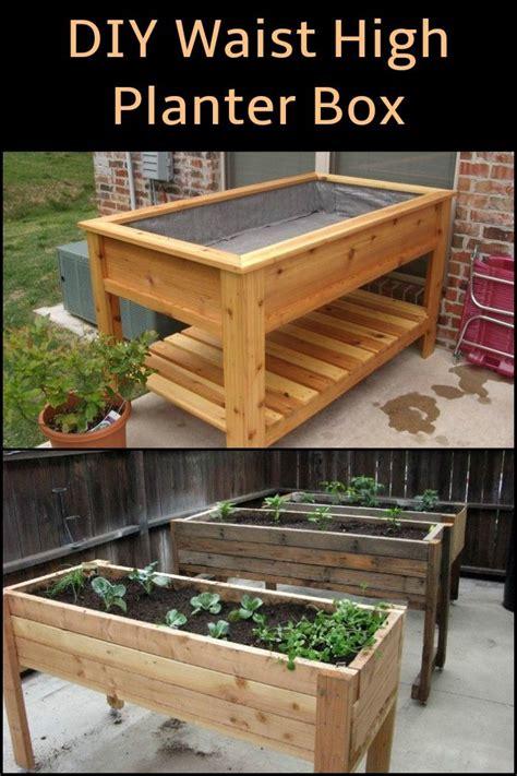 diy waist high planter box garden planter boxes pallets