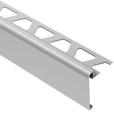 schluter rondec step satin anodized aluminum 3 8 in x 8