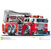 Vector Cartoon Fire Truck Stock Image  26558341