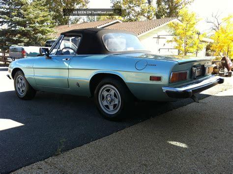1982 Alfa Romeo Spider by 1982 Alfa Romeo Spider Veloce Convertible 2 Door 2 0l