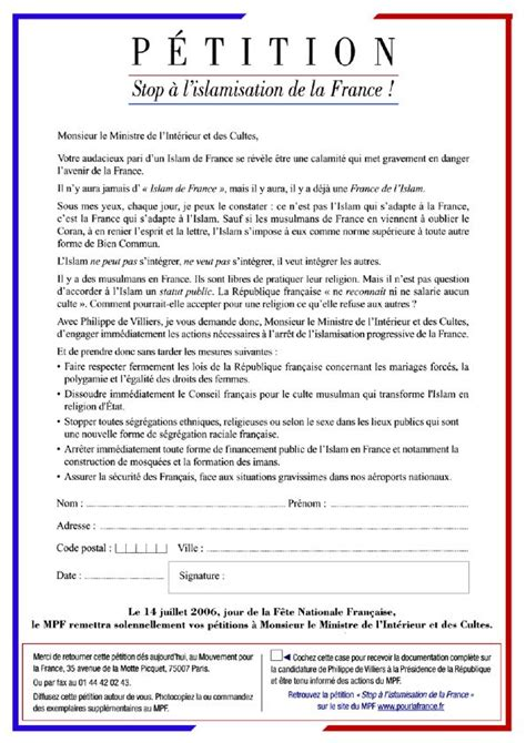 Attestation Letter From Mosque petition against islamization galliawatch