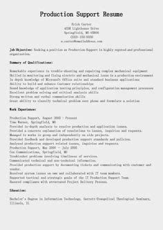 Production Specialist Sle Resume by Peer Support Resume Sales Support Lewesmr