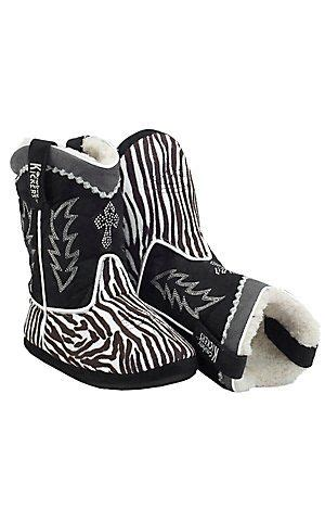 Kickers Zebra Black by Montana Silversmiths 174 Cowboy Kickers Black White