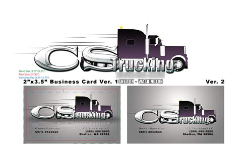 business cards templates for trucking cs trucking business card by fireproofgfx on deviantart