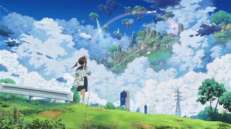 anime girl scenery wallpaper anime scenery wallpaper wallpapersafari