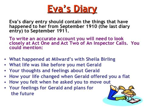 themes presented in an inspector calls i am writing an entry of eva smith s diary in an inspector