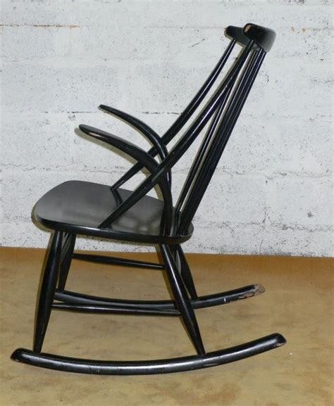 Black Rocking Chairs by Black Lacquered Rocking Chair For Sale At 1stdibs