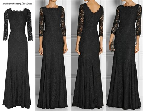 Longdress Diana Back kate wows in black lace diane furstenberg at royal