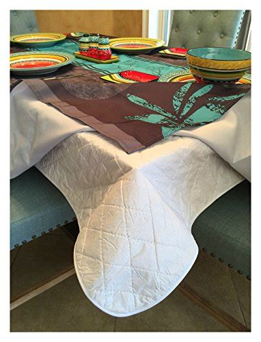 Quilted Table Protector by Dining Table Protector Quilted Table Pad Flannel Backing
