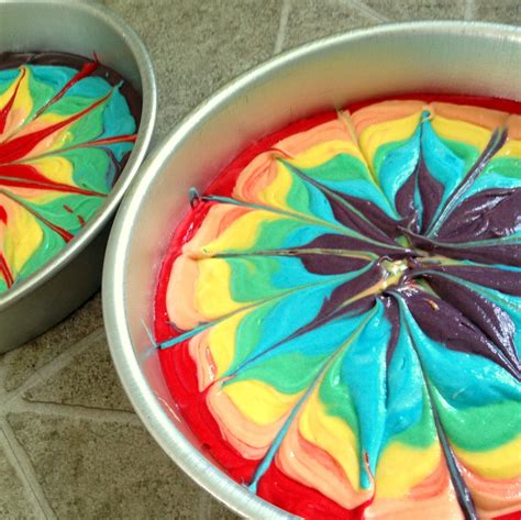 rainbow tie dye layer cake sawdust and embryos