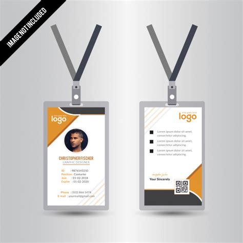 id card design eps simple yellow id card design vector premium download