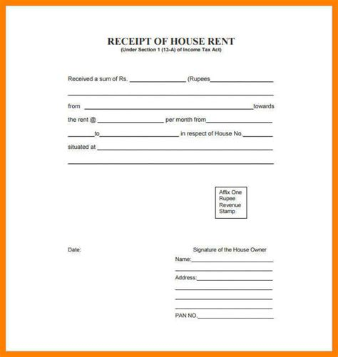 6 house rent receipt format pdf applicationleter com
