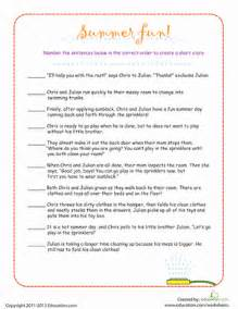 put the story sequence in order worksheet education com
