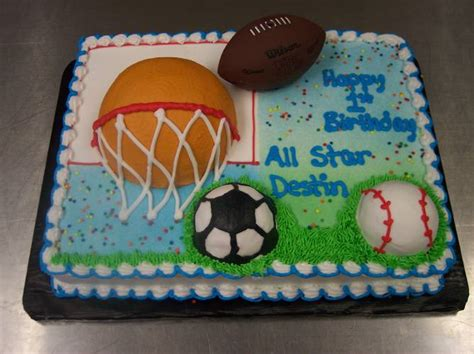 sports themed cakes best birthday cakes