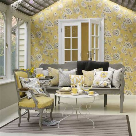 Yellow And Grey Living Room Ideas by 15 Yellow Rooms Messagenote