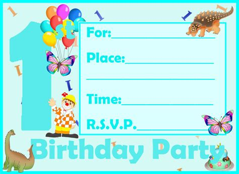 printable birthday invitation cards with photo printable birthday invitation cards for kids festival