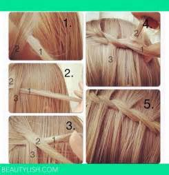 waterfall hairstyle step by step waterfall braid step by step peinados pinterest