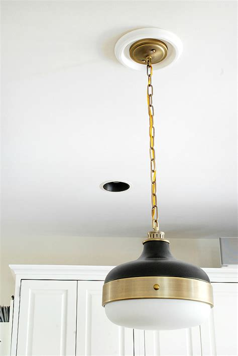 Black And Gold Pendant Light Black And Gold Pendant Light Tequestadrum