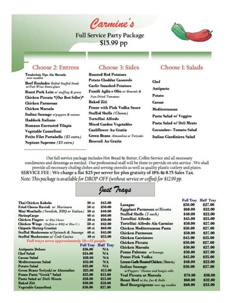 banquet menu layout 15 best catering ideas images on pinterest catering
