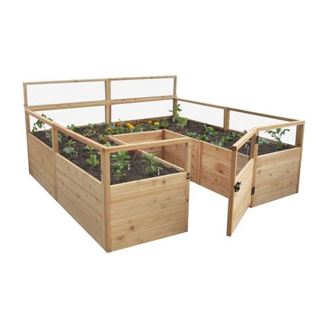 Home Depot Raised Garden Bed by Outdoor Living Today 8 Ft X 8 Ft Cedar Raised Garden Bed