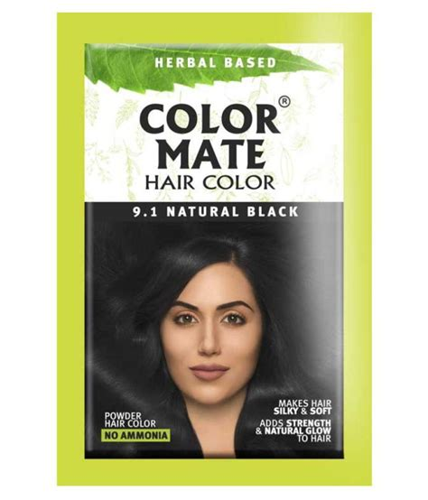 mate color color mate powder hair color black 15gm pack of 5