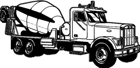 coloring concrete cement truck coloring page coloring home
