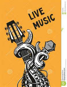 live music poster stock vector image 65242600