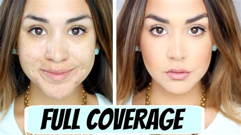 Nyx Incvicible Fullest Coverage Foundation Warm coverage foundation routine alexandrea garza