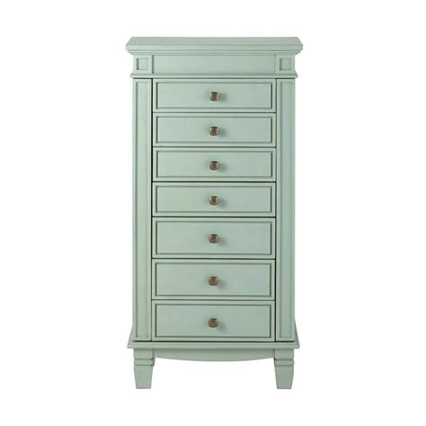 blue jewelry armoire home decorators collection cordelia antique blue jewelry armoire 9833800300 the home