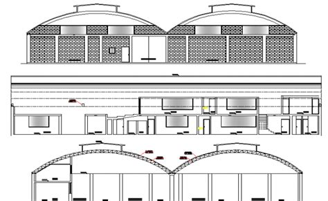 warehouse layout dwg architecture layout of warehouse elevation dwg file
