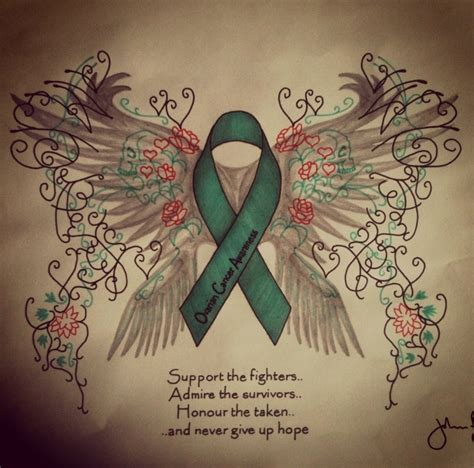 ovarian cancer tattoos ovarian cancer awareness by johnflynn01 on deviantart