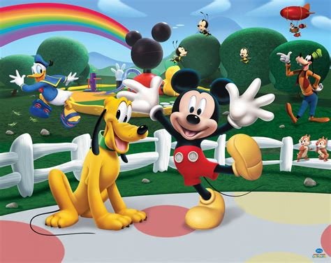 mickey club house disney mickey mouse club house by walltastic wallpaper direct