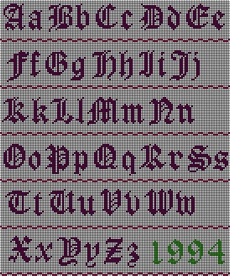 Letter Pattern In English | 49 best images about cross stitch fonts on pinterest