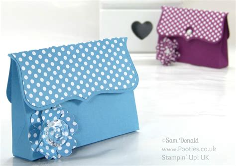 How To Make A Clutch Purse Out Of Paper - clutch bag tutorial using 169 stin up top note die