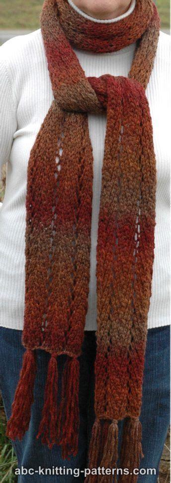 chevron lace scarf knitting pattern abc knitting patterns chevron lace scarf