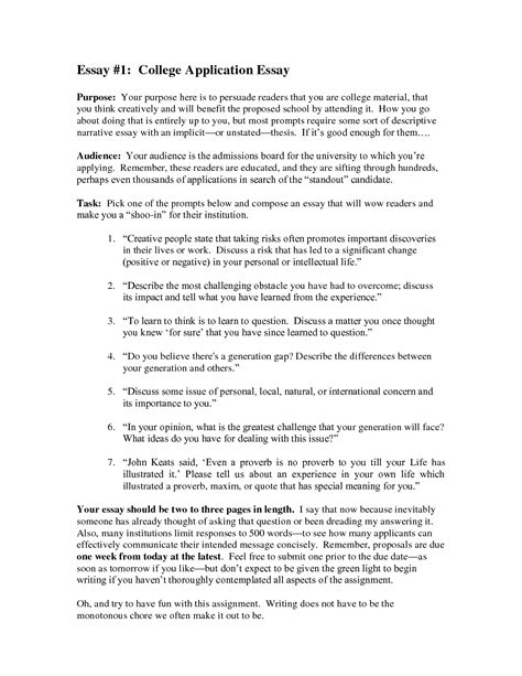 how to write a college essay paper how to write a college application essay