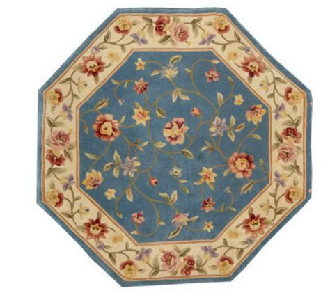 royal palace floral octagon 4 x 4 handmade wool rug