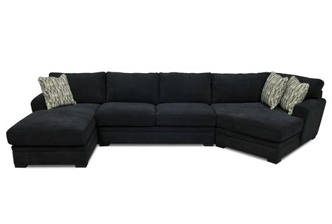 sectional sofa design gentle black fabric sectional sofa