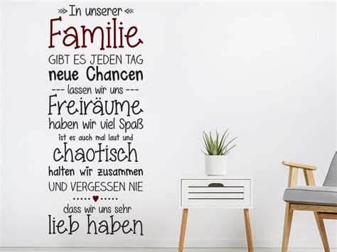 Wandtattoo Kinderzimmer Geschwister by Wandtattoo Familie Mit Herz Spruchband Wandtattoo De