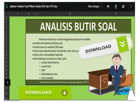 format analisis butir soal download aplikasi analisis soal pilihan ganda uas dan uts format