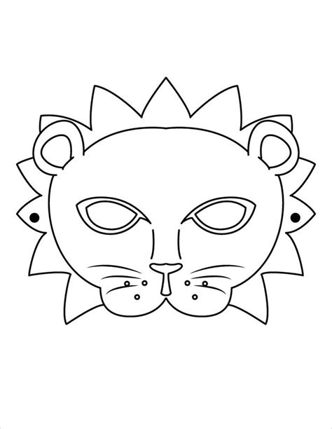 Mask Template by Animal Mask Template Animal Templates Free Premium