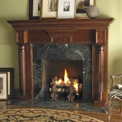 heritage custom wood fireplace mantel surround in cherry