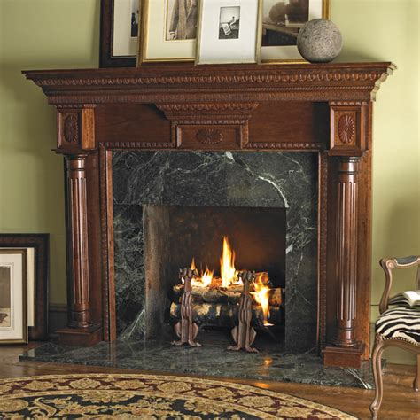 Heritage Custom Wood Fireplace Mantel Surround In Cherry Wood Fireplace Surround